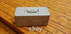 1960s All Metal Tackle Box With Older Than Vintage Contents