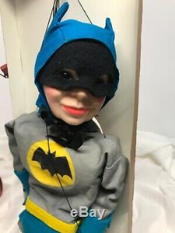 1966 Hazelle USA-BATMAN MARIONETTE/STRING PUPPET-All Original/Complete With Box