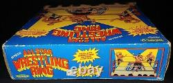 1985 AWA REMCO ALL-STAR WRESTLING RING 100% COMPLETE WithBOX ALL ORIGINAL! RARE