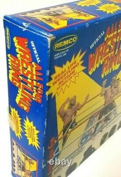 1985 AWA Remco Wooden All Star Wrestling Ring Boxed Factory Sealed VERY RARE