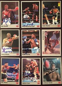 1991 All World AW Boxing Near Complete Signed Card Set (91/149) Muhammad Ali