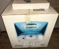 1999 APPLE iMac G3 400 DV COMPLETE in Original BOX! Blueberry ALL ITEMS! NICE