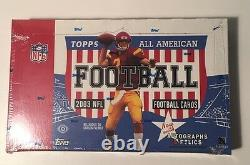 2003 Topps All American Football Hobby Box Factory Sealed