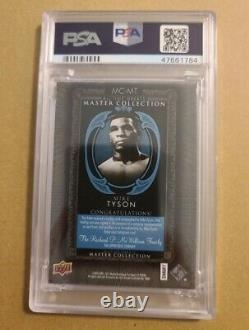 2016 UD All Time Greats Master Collection Auto Light Blue Mike Tyson PSA 7