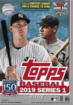 2019 Topps Series 1 Baseball Factory Sealed 8 Box Hanger Case 536 cards in all