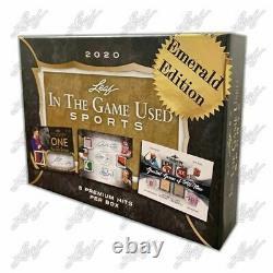 2020 ITG IN THE GAME USED SPORTS EMERALD Sealed Box All Cards #'d /5 or Less