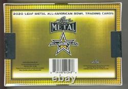 2020 Leaf Metal All-American Bowl Sealed Football Hobby Box 8 Auto Cards