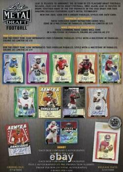 2020 Leaf Metal Draft Football Hobby Box All Boxes Pulled From A Sealed Case
