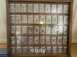 (50) 1938 Churchman Boxing Cards All Psa Graded! Rare! Gorgeous Complete Set