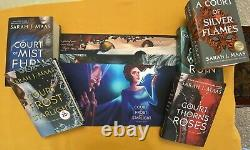 A Court of Thorns and Roses Set Original Covers + All Bookish Box Dust Jackets