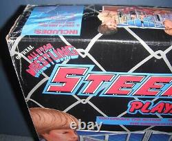 AWA REMCO 1980s Wrestling OFFICIAL ALL STAR STEEL CAGE MATCH PLAY SET in Box NEW