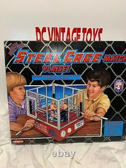 AWA REMCO OFFICIAL ALL STAR STEEL CAGE MATCH PLAY SET WRESTLING RING (New) 1985