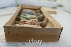 Antique Hertwig Mib All Orig. Never Removed From Orig. Box 5 All Bisque Dolls