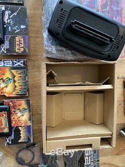 BOXED Sega Megadrive 32X Console With ALL Original Inserts & x2 BOXED GAMES GWO