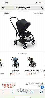 Bugaboo bee 5 complete stroller, all black(Brand New in the original box)