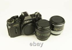 Canon AE-1+50mm f1.4 FDn+2x Extender All in Original Boxes, Perfect Condition
