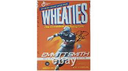 Emmitt Smith Dallas Cowboys Wheaties Box Flat All-Time Rusher AUTOGRAPHED