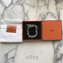 Hermes Chain dAncre Sterling Silver Bracelet All Original with Box Pouch
