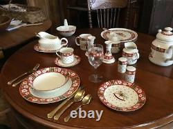 Holiday dinnerware service for 8. Lots of extras. Have all original boxes