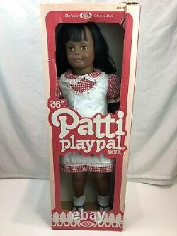 Ideal Toy 36 inch Patti Playpal All Original 1982 With Box African American Doll