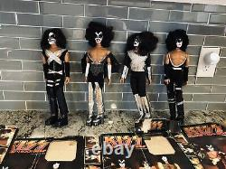 KISS 1976 1977 Mego dolls all 4 original box AND new repro boxes