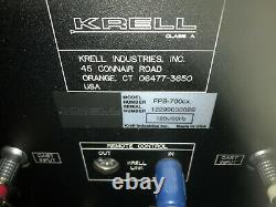 Krell power amplifier FPB700cx color black weight 200 lbs all original boxes