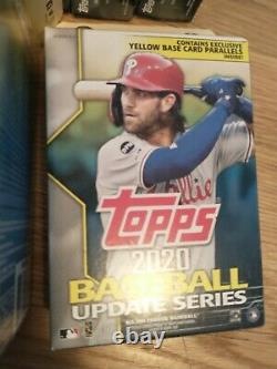 Lot (20) 2020 Topps Update Walgreens Hanger Box Yellow Parallel All New Sealed