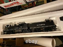 MTH Shays Engine & Tender & Three (3) Lumber Cars. All In Original Boxes