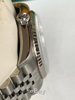 Mens All Original Rolex Date Just Superlative Pre Owned Watch With Box Mint
