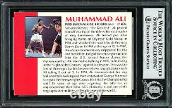 Muhammad Ali Authentic Autographed Signed 1991 All World Card Beckett 12516417
