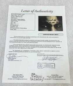 Muhammad Ali Signed Inscribed Greatest of All Time Sports Illustrated JSA LOA