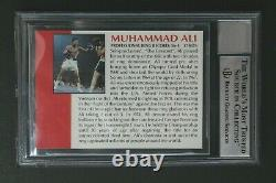 Muhammad Ali (d. 2016) Boxing Signed Autographed 1991 All World Promo Card BAS 10