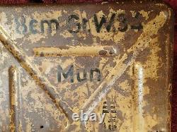 Nice, Marked Ww II Nazi Germany German Ammo Metal Box Canister All Original
