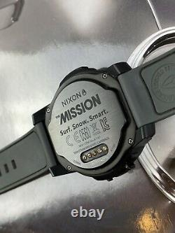 Nixon Mission ALL BLACK Smart Watch With Case Charger Original Boxing Pre-Owned