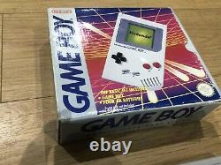 ORIGINAL Boxed Nintendo Game Boy DMG-01 For The Collector With All Manual/papers