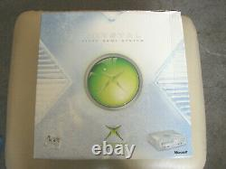 ORIGINAL XBOX CRYSTAL CONSOLE BOXED with ALL LEADS & CONTROLLER