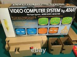 Original NEW In Box Atari 2600 VCS 6-Switch System Console Complete +ALL Packing
