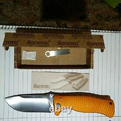 (READ ALL) NEW IN BOX with PAPERS LION STEEL SR1 SR-1 LIONSTEEL SR1A-OS D2 ORANGE