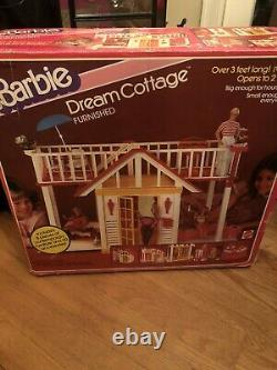 Rare 1982 Vtg. Barbie Dream Cottage Furnished With Box & Furniture See All Photos