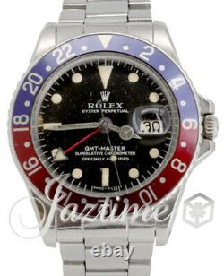 Rolex Vintage GMT-Master 1675 Pepsi Red/Blue 40mm ALL ORIGINAL 1969 BOX/PAPERS