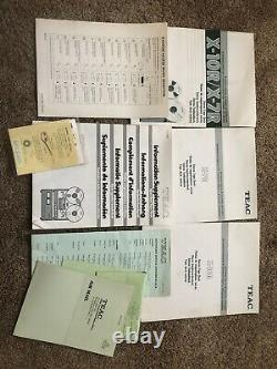 TEAC X-10R REEL TO REEL TAPE DECK With All Original Paperwork And Box WOW