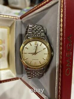 Vintage 1966 ALL ORIGINAL Omega Seamaster Automatic SS Rice Band Watch WORKS