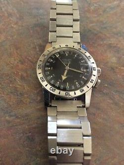 Vintage 1968 Glycine Airman Watch. ALL ORIGINAL WITH BOX AND COA