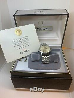 Vintage Omega Seamaster Rare Midsize SS Auto All Original Inner Outer Box Paper
