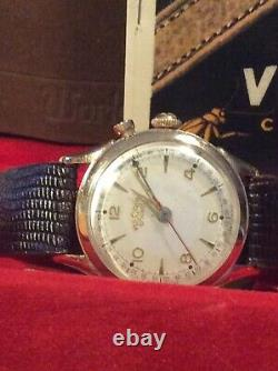 Vintage vulcain cricket alarm watch In box With instruction book All Original